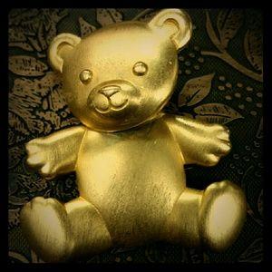 💗VINTAGE💗 JJ Teddy bear pin